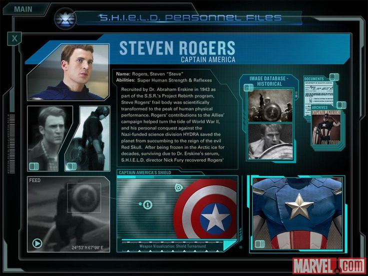 51 best user interfaces military images on pinterest user screenshot of steve rogers personnel file from the second screen experience app toneelgroepblik Gallery