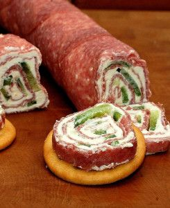 Salami  en roomkaas rolletjes