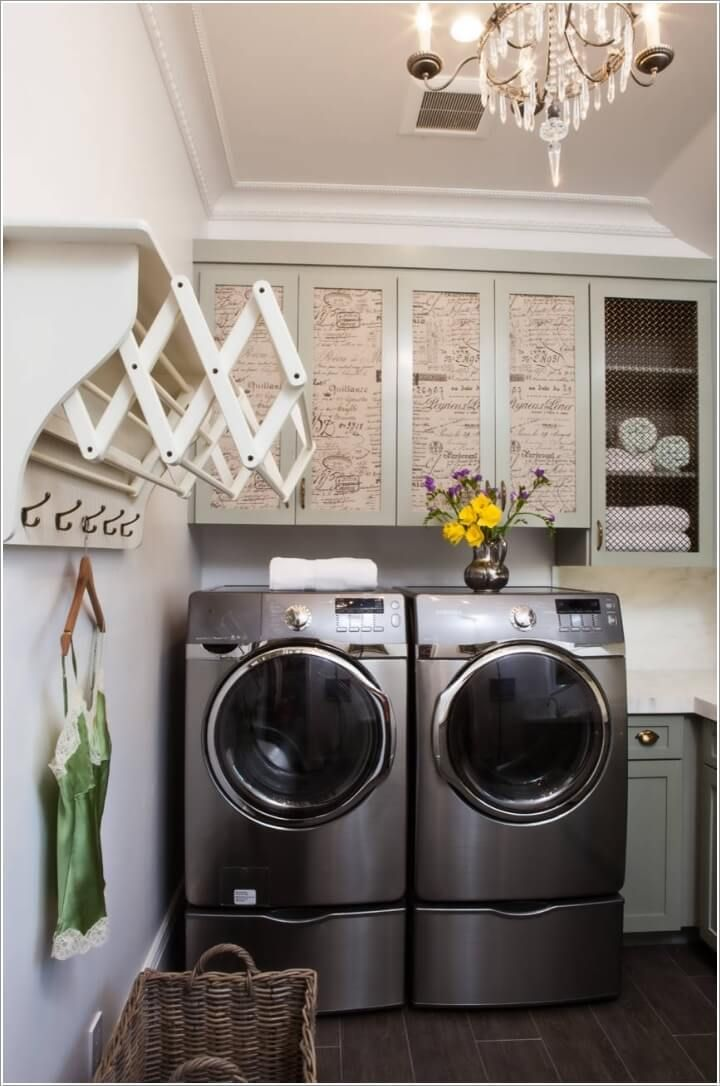 10 Clothes Hanging Solutions For A Laundry Room Laundry Room