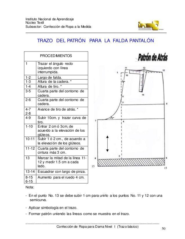 Confeccion De Ropa Para Dama A La Medida Trazo Basico 4 Sewing Techniques Sewing Clothes Sewing