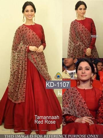 Tamanna Red Party Wear Bollywood Gowns ,Indian Dresses