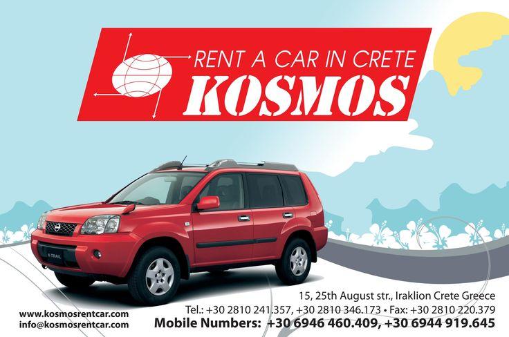 Kosmos Car Hire in Crete,Heraklion,Chania,Rethymnon,Lassithi!