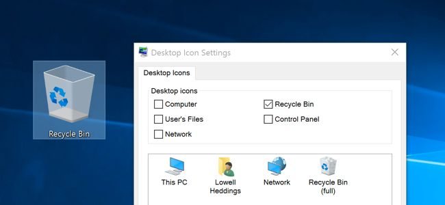How to Hide or Delete the Recycle Bin Icon in Windows 7, 8, or 10