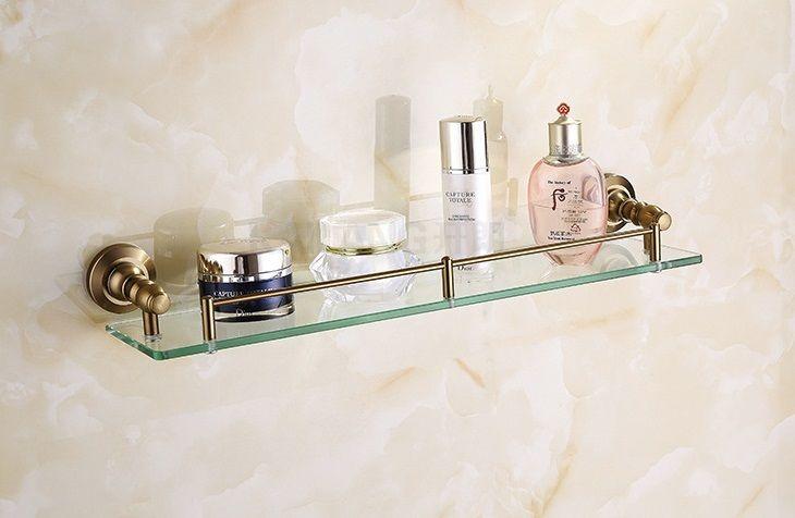 Antique bathroom glass shelf brass material bathroom accessories - http://furniturefromchina.net/?product=antique-bathroom-glass-shelf-brass-material-bathroom-accessories