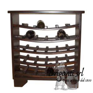 MCT001 - Credenza piccola portabottiglie. Mobile arte povera, mobile in legno portabottiglie, mobile da cantina, mobile in castacno con mensole, mobile per vino, armadio per vino, rastrelliera per bottiglie, mobile da vino
