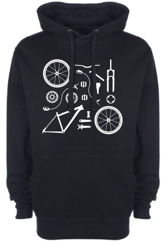 Hey, I found this really awesome Etsy listing at https://www.etsy.com/listing/203709693/bicycle-bike-parts-mens-womens-hoodie
