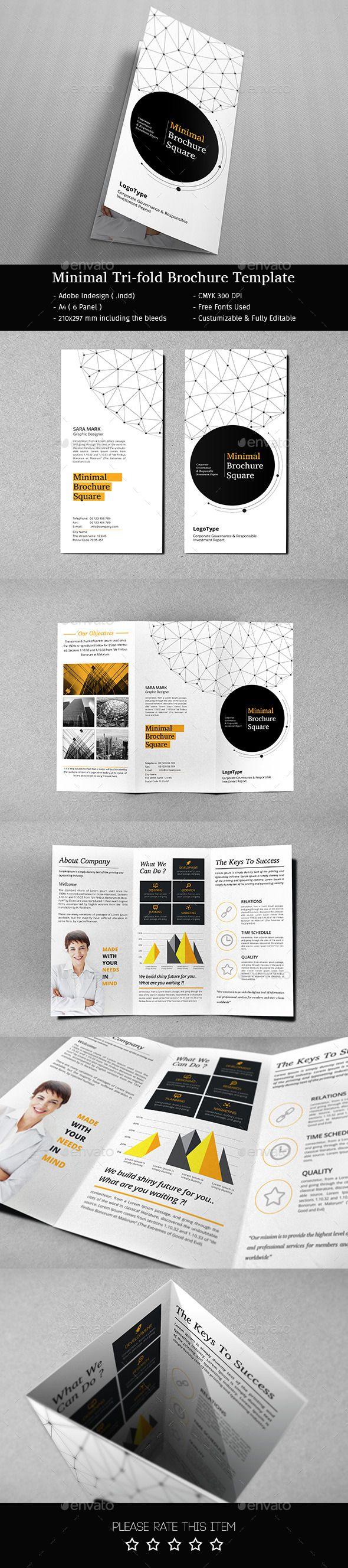 Minimal Tri-fold Brochure Template #brochure #design Download: http://graphicriver.net/item/minimal-trifold-brochure/12587318?ref=ksioks