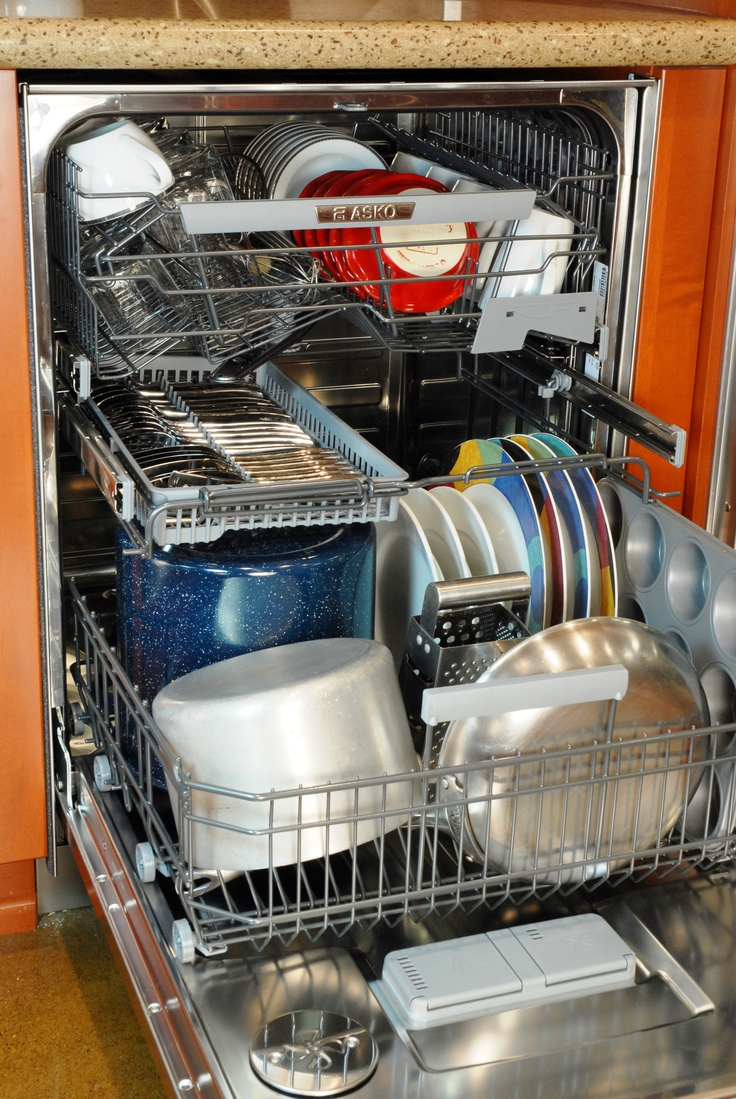 Love to cook? Asko's D5644XLCS dishwasher is the ultimate in loading flexibility!