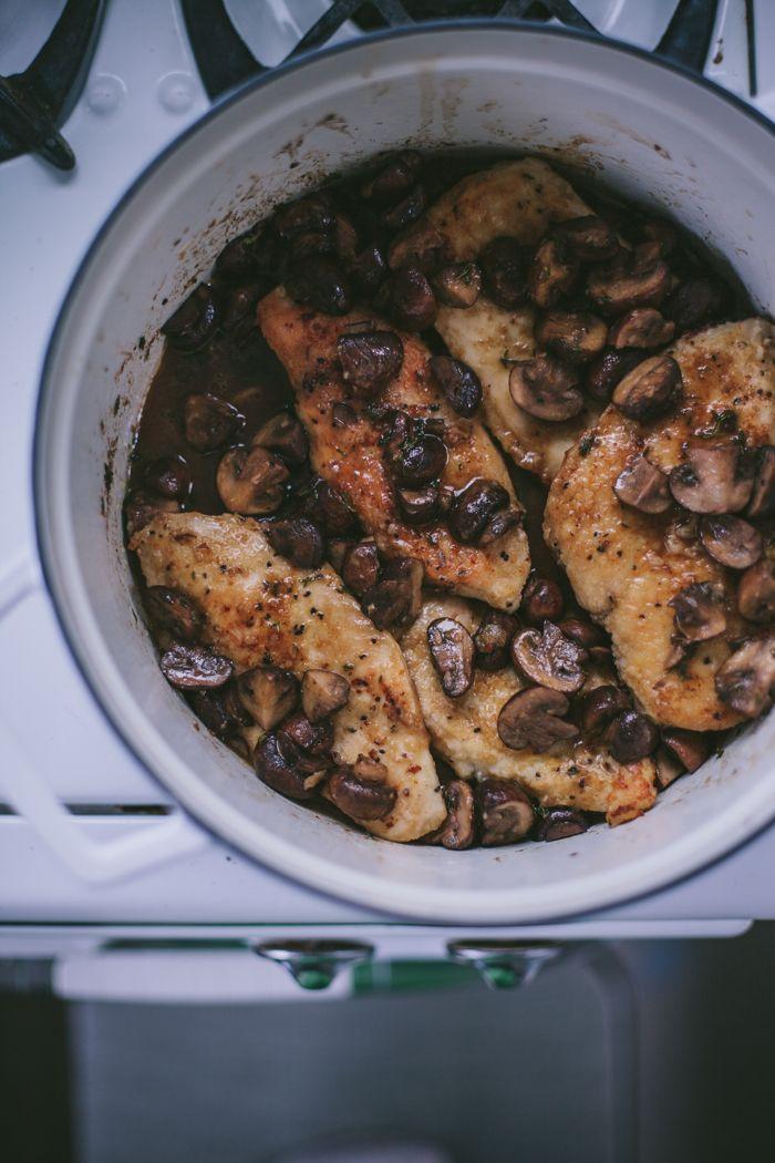Chicken with Mushrooms in Wine by Eva Kosmas Flores ...