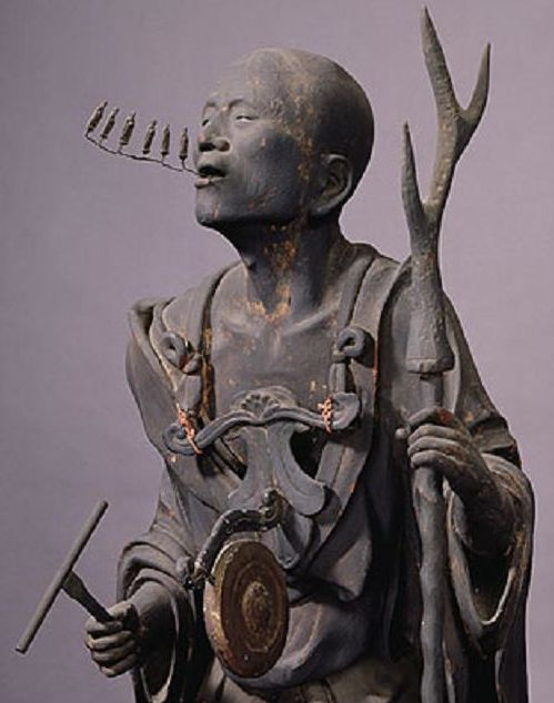 Statue of Kūya by Kōshō, son of Unkei, at Rokuharamitsu-ji (六波羅蜜寺), Kyoto,