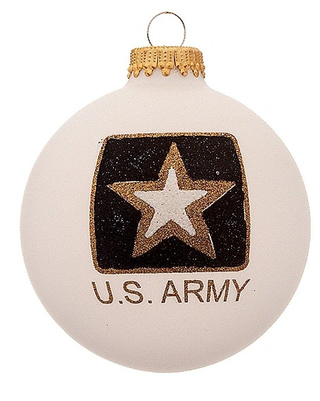 Buy Personalized Army Logo Glass Ball Christmas Ornament- Made in America  Ornaments, .