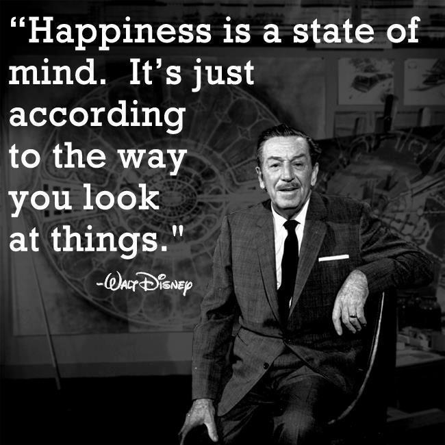 Walt Disney: On Happiness...