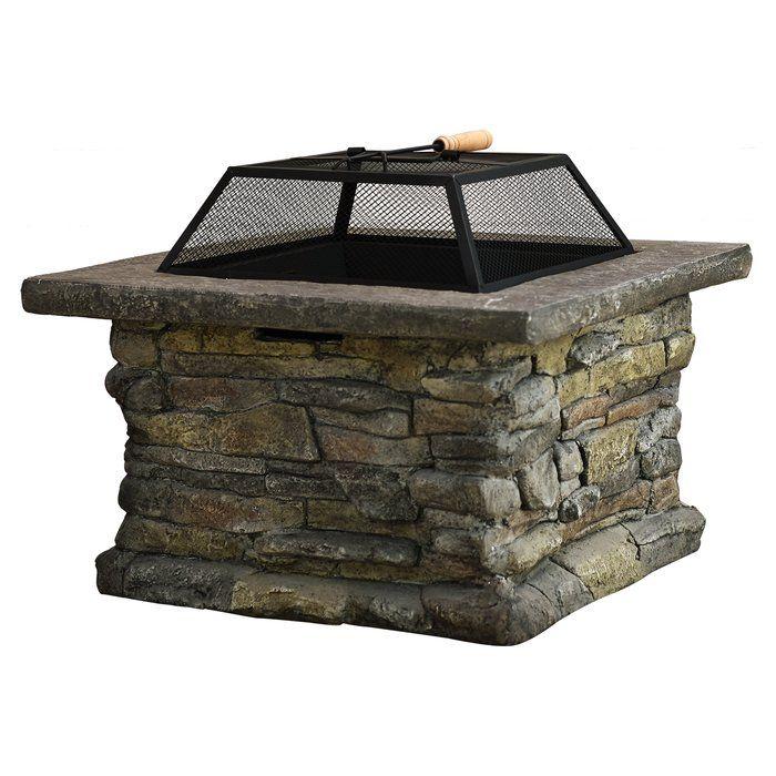 Colton Concrete Wood Burning Fire Pit Table