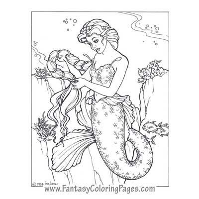 realalistic fantasy coloring pages - photo#18
