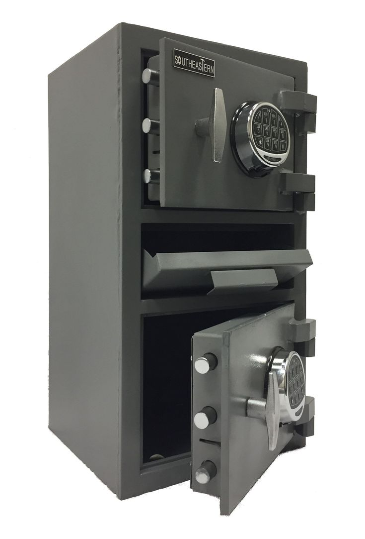 SOUTHEASTERN Double door money depository drop safe with UL listed digital lock