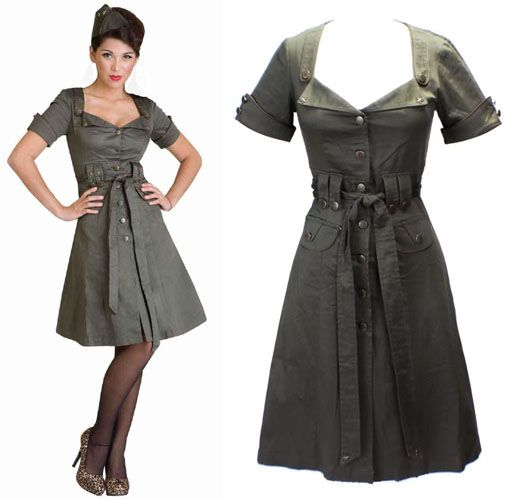 Early signs of dementia in 40s style dresses