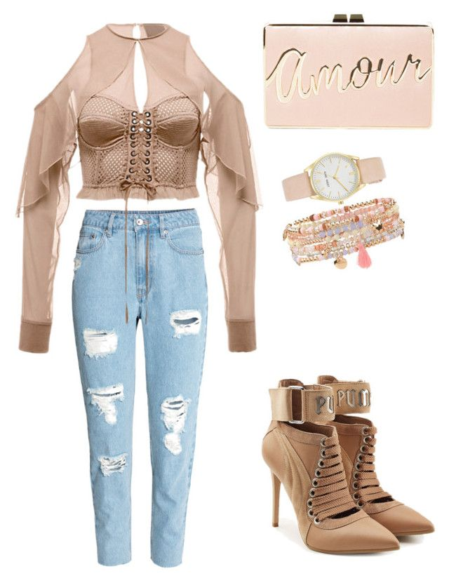 """""""Street Style"""" by alyexandra on Polyvore featuring Puma, BCBGMAXAZRIA, Nine West and Accessorize"""