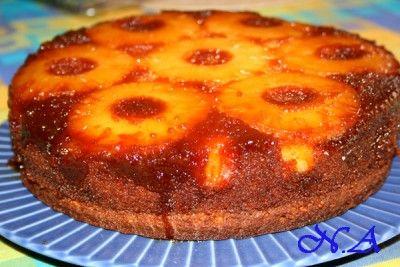 Ананасово-карамельный пирог.