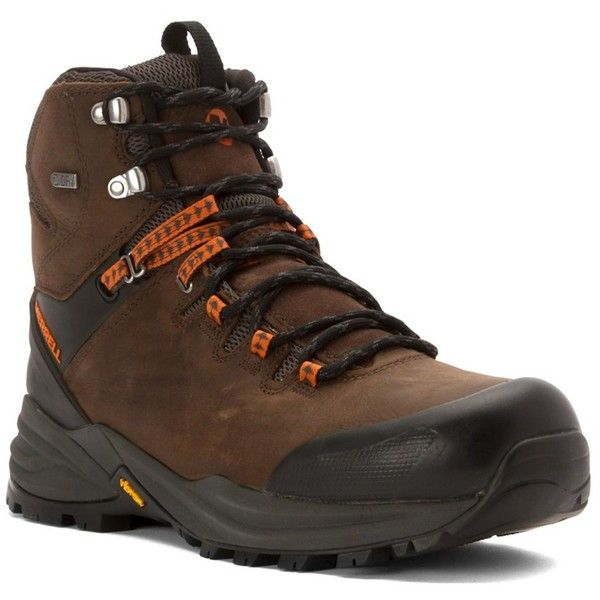 Merrell Men's Phaserbound Waterproof Hiking Boots (395118901) (11.105 RUB) ❤ liked on Polyvore featuring men's fashion, men's shoes, men's boots, black, shoes, mens black shoes, mens shoes, mens black slip on boots, mens waterproof hiking boots and mens black pull on boots