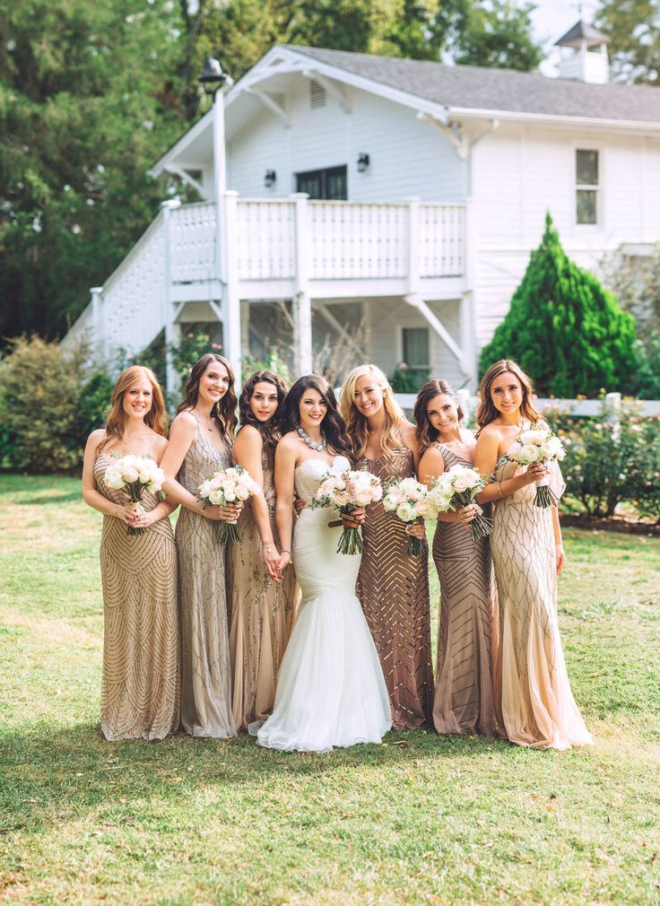 Me & Mr. Jones Wedding, Black Tie Wedding, Bridesmaids wearing Adrianna Papell Beaded Dresses, Embellished Bridesmaids Dresses, Black Tie Wedding, Blush Bridesmaids, Bridesmaids Dresses by @adriannapapell