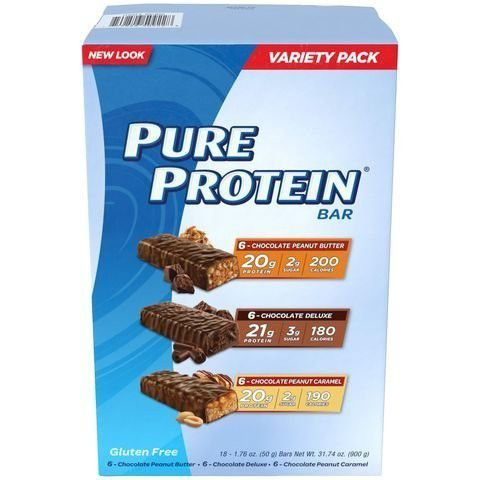 Pure Protein Bars Chocolate Variety Pack (18 ct) ,Pure-ri8d