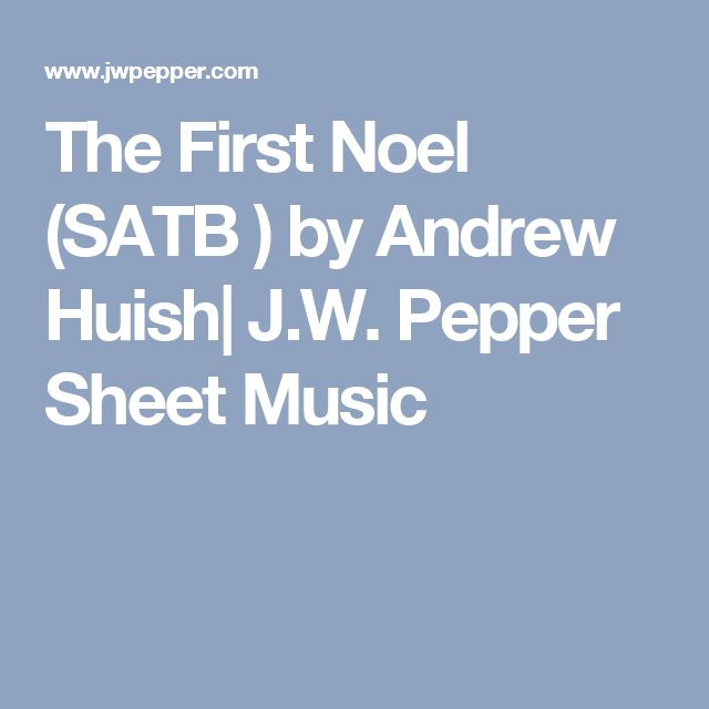 the first noel satb pdf