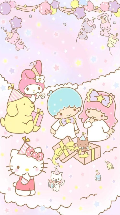 Little Twin Stars, My Melody, Hello Kitty, Pompompurin