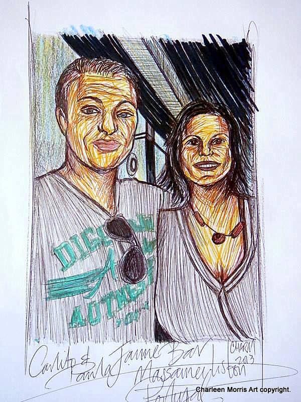 Paula and Carlos Jaime Bar Massama nr Lisbon Portugal