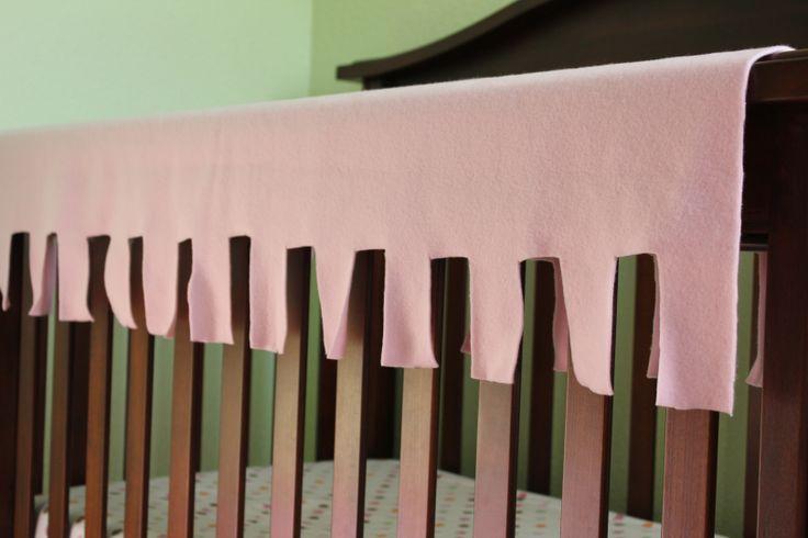 no sew fleece crib teething guard