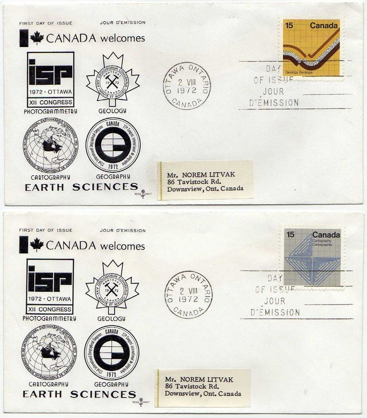 Added this to my #etsy shop: 2 ROSECRAFT CACHET First Day Covers FDCs, 1972 Canada Post 15 cents Earth Sciences stamps, Scott #582 Geology and #585 Photogrammetry http://etsy.me/2HT80Ov #vintage #collectibles #postagestamps #firstdayofissue #1970s #science #geology #mapping
