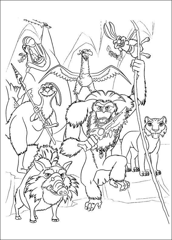 Ice Age Coloring Page 4 Is A Coloring Page From Ice Age Coloring Book Let Your Children Express Their Imagination Colouring Pages Coloring Books Coloring Pages