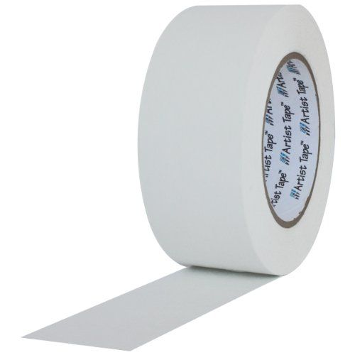 """ProTapes Artist Tape Flatback Printable Paper Board  or Console Tape, 60 yds Length x 1"""" Width, White (Pack of 36)"""