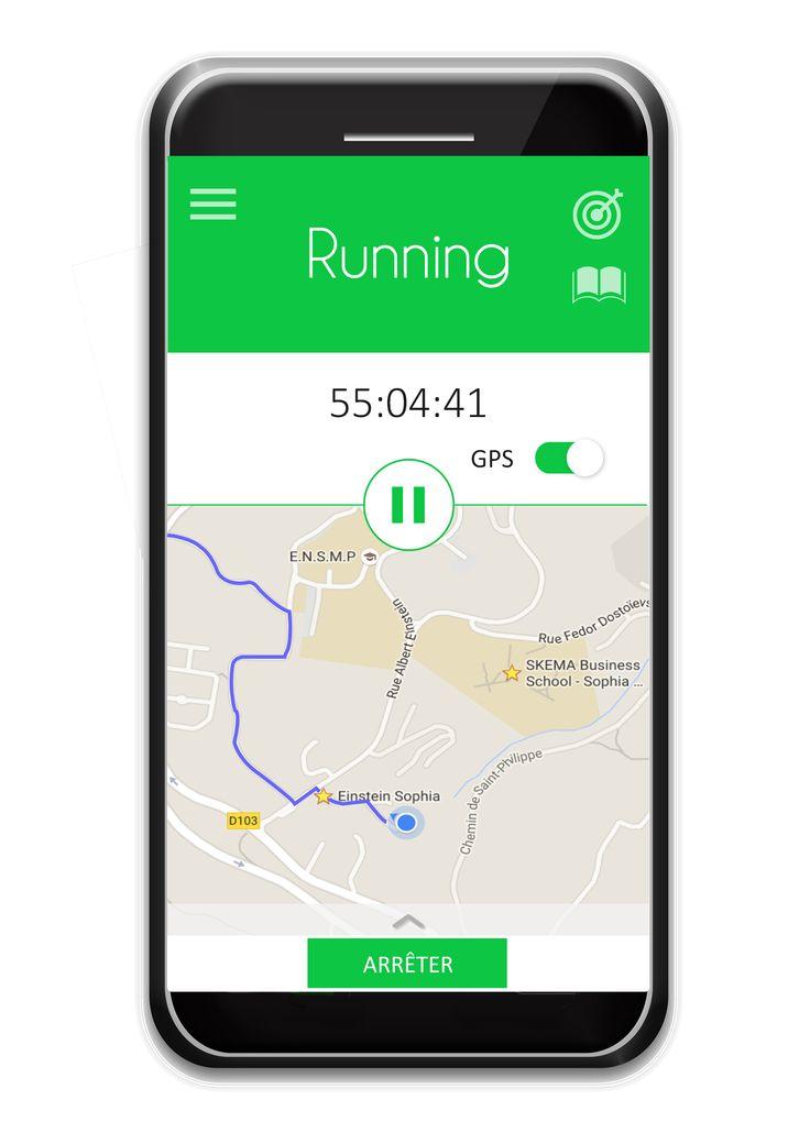 #Running sport  #ctband #app #wearable #hightech