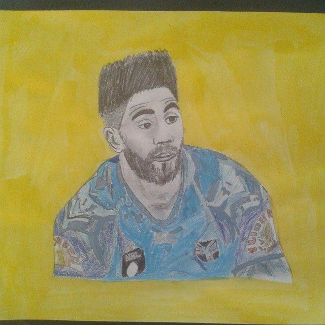 A fantastic portrait of Shaun Johnson by @ethan_long123 #ThatHair #Portrait #WarriorsArt #ShaunJohnson #drawing #pencil #Warriors #WarriorsForever
