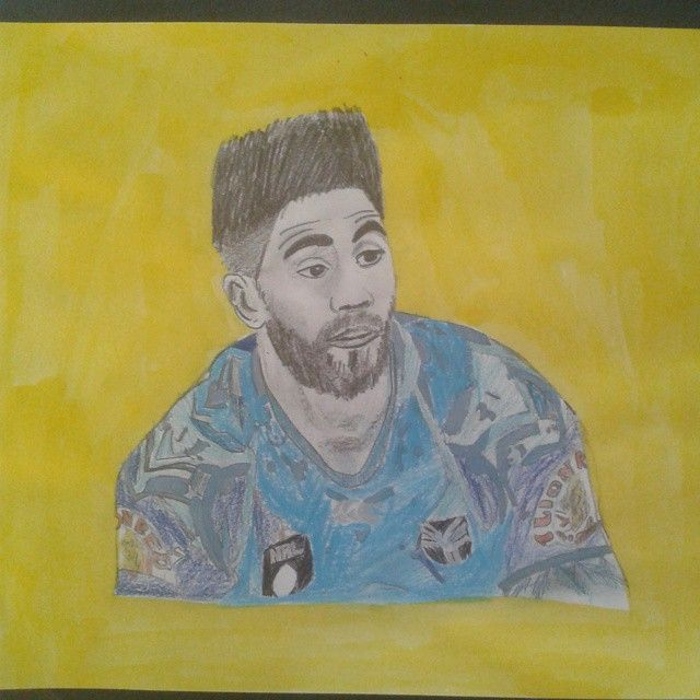 A fantastic portrait of Shaun Johnson by @ethan_long123 #ThatHair #Portrait #WarriorsArt #ShaunJohnson #drawing #pencil #Warriors #WarriorsForever