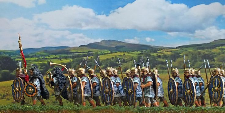 Relief column for Hadrian's wall, but I think the Optio may have seen something..... 28mm hard plastic Victrix Miniatures. Constructed and painted by Bob Hornsby