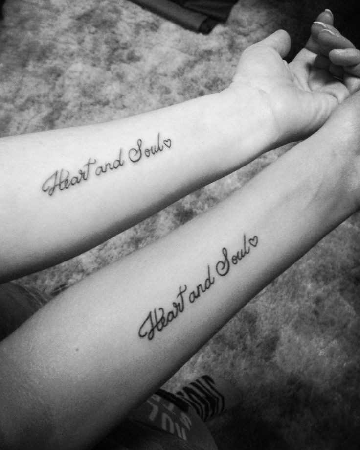 Mother and  daughter tattoo