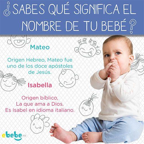 Qué significa el nombre de tu bebé? #mateo #isabel #isabella #significado www.ebebe.mx