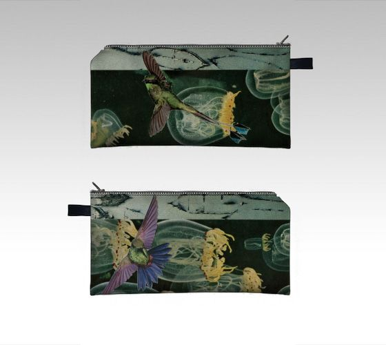 Digitally-printed pencil case/ zipper pouch - collage art by livingferal Through my Indiegogo campaign: http://igg.me/at/livingferal
