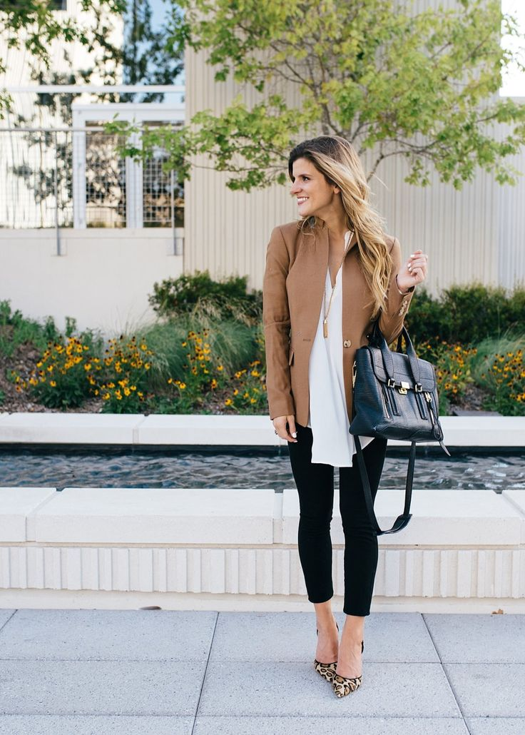 fall work outfit // business casual // work outfit // blazer outfit // fall…