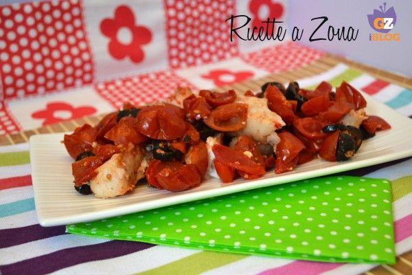 nasello con pomodori e olive ricette a zona blog 3 blocchi