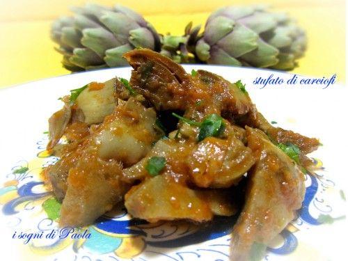 Stufato di carciofi… Bontà da gustare. Quante varietà di carciofi in Sicilia. In maniera semplice diventano molto di più di un semplice contorno.