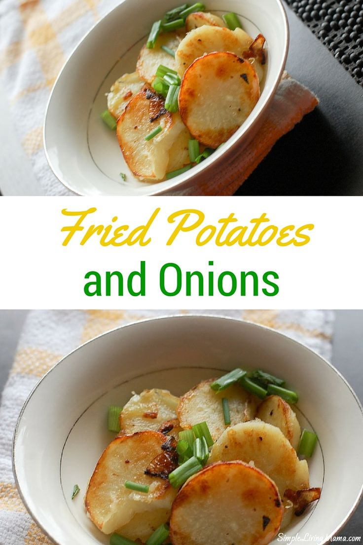 A simple and frugal recipe of fried potatoes and onions. So yum!