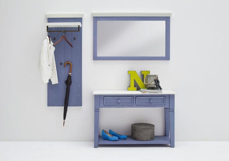 Garderobenkombination LaMer I 3tlg. Brilliantblau Passend zum Möbelprogramm LaMer Kombination bestehend aus: 1 x Anrichte mit 2 Schubkästen und 1 Ablageboden B/H/Tca. 120 x 80 x...