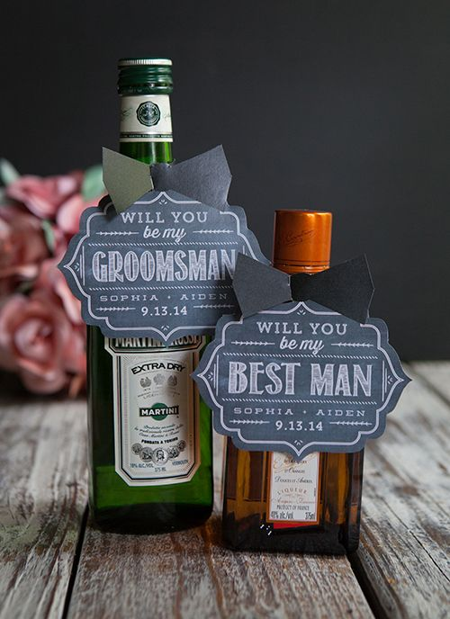 Groomsmen will love getting these messages on a bottle | Brides.com