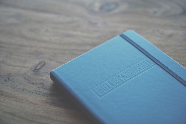 nordic blue bullet journal