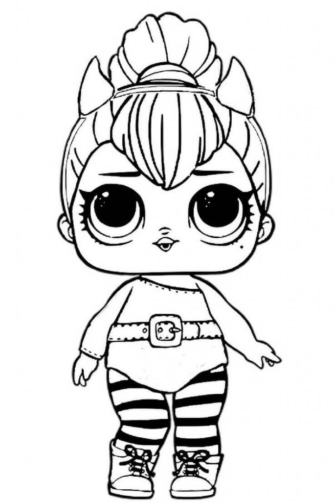 LOL Dolls Coloring Pages | Unicorn coloring pages, Cute coloring ...