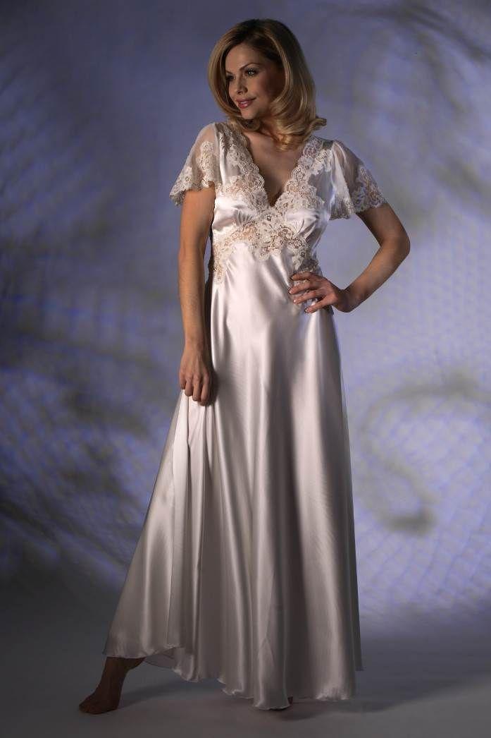 Long Silk Nightdress Jane Woolrich 73720 Sleeping