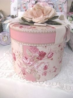"""Decorated Oatmeal Container - """"jewelry box"""" for the girls"""