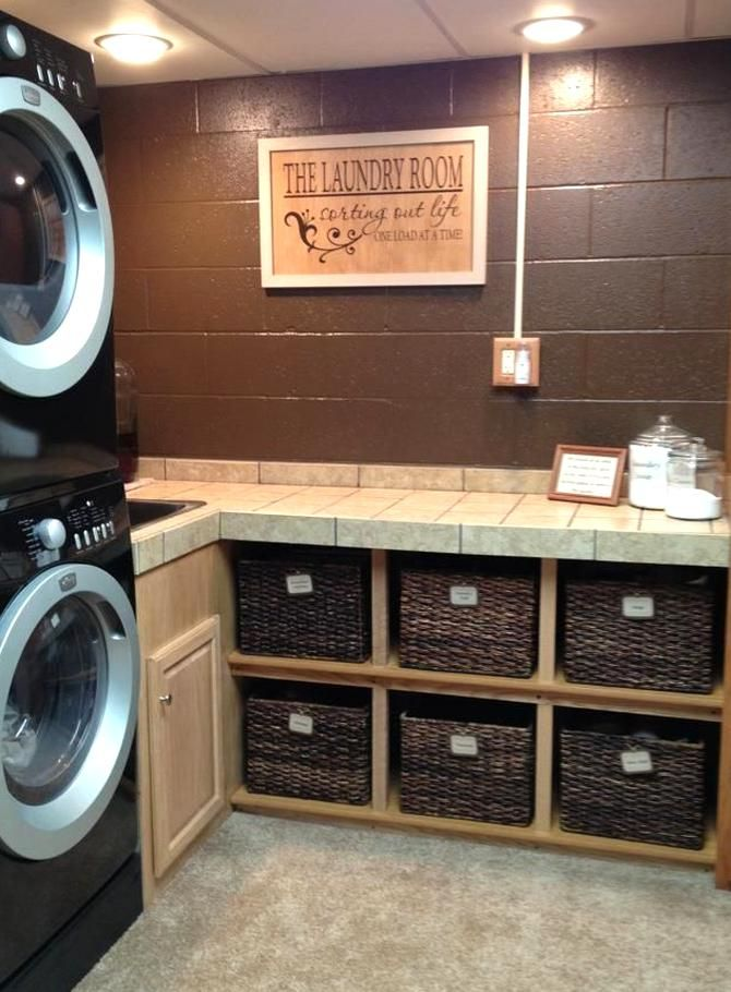 Laundry Room Makeover Ideas For Your Mobile Home In 2020 Small